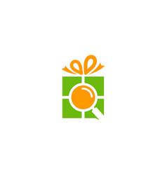 find gift logo icon design vector image