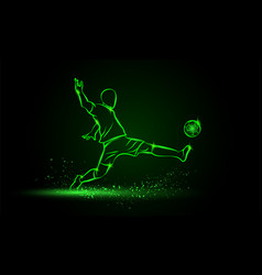 football player hits the ball in the dark vector image