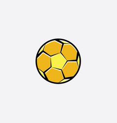 football yellow logo icon soccer ball vector image