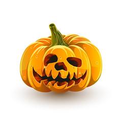 funny toothy halloween pumpkin vector image