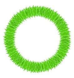 grass frame ring vector image