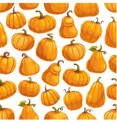 Halloween autumn pumpkin seamless pattern vector