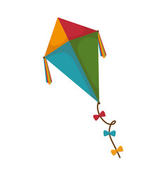 Kite flying toy icon vector