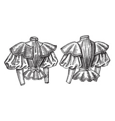 Ladys blouse vintage engraving vector