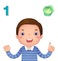 Learn number and counting number one vector image