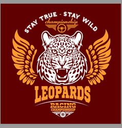 Leopards - custom motors club t-shirt logo vector