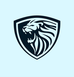 lion shield design idea vector image