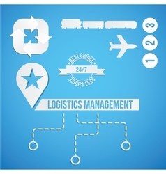 logistic concept set icon and sympols vector image