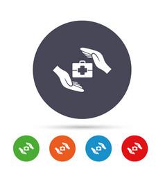 Medical insurance sign health insurance symbol vector