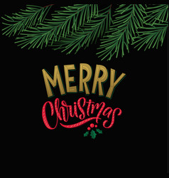 merry christmas holiday background christmas vector image