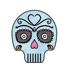 Mexican skull icon vector