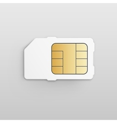 Mobile Cellular Phone Sim Card Chip vector