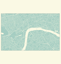 modern london map in vintage style vector image
