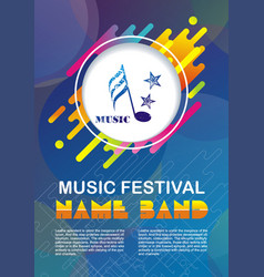 music concept festival poster template vector image