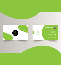 personal business card for eco-friendly product vector image