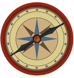 pirate compass isolated on white background vector image