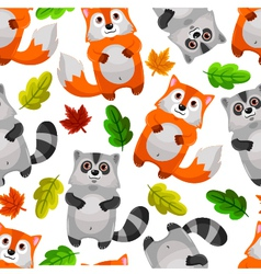 Racoons and foxes vector