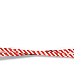 red and white stripes set warning tapes danger vector image