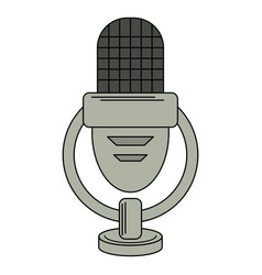 retro microphone voice icon vector image