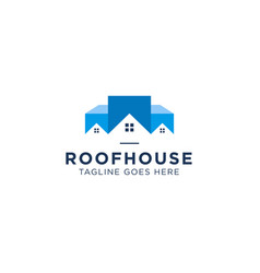 roof house logo design inspiration vector image