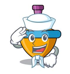 Sailor spinning top character cartoon vector