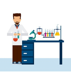 scientific laboratory vector image