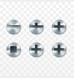 screws rivets and bolts set isolated on vector image