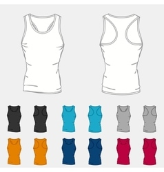 Set of colored singlets templates for men vector image vector image
