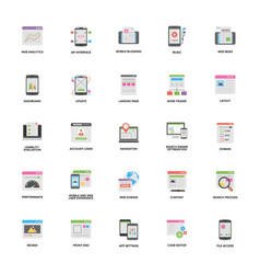 set of web and mobile application development vec vector image