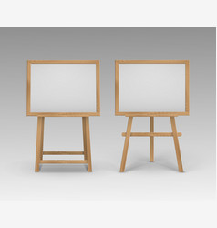 set of wooden brown sienna art boards vector image