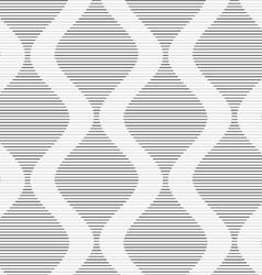 Shades gray striped bulging waves vector