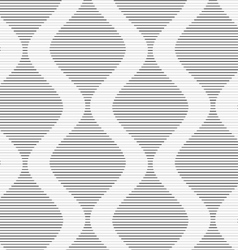 Shades of gray striped bulging waves vector