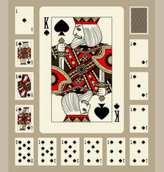 Spades suit playing cards vector