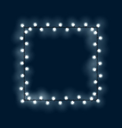 Square of glowing light bulbs vector