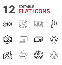 Transfer icons vector