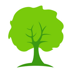 tree abstract green people growth concept vector image