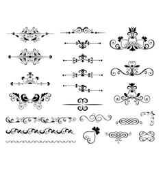 variety vintage ornaments set vector image