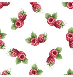 Watercolor pattern fruit raspberry vector