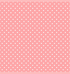 White polka dots on pink background vector