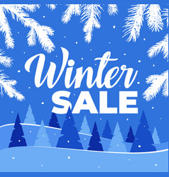 winter sale for banner and vector image