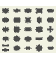 Blank empty dark frames and borders set collection vector image vector image