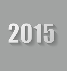Grey 2015 new year card design vector image vector image