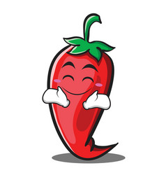 happy red chili character cartoon vector image