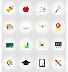 school education flat icons 17 vector image vector image