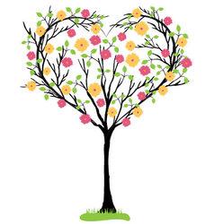 tree heart shaped vector image vector image