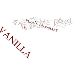 best recipes classic vanilla milkshake text vector image vector image
