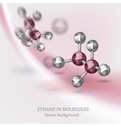 Ethane Molecules Background vector image