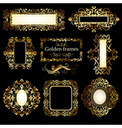 Golden patterns vector image