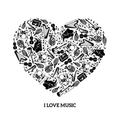 Love Music Concept vector image vector image