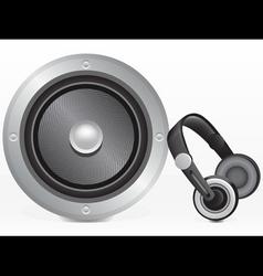 speaker and headphones vector image vector image